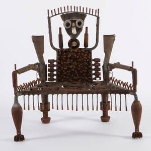 dezeen When I get Green furniture made of guns by Goncalo Mabunda at Jack Bell Gallery 13