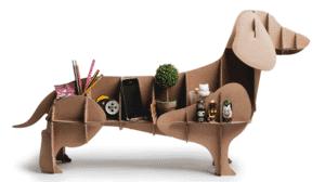 cardboard dog shelves
