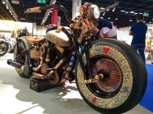 tattooed motorcycle