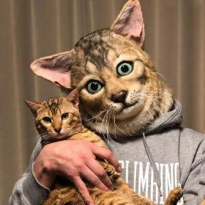 Japan Cat Head Mask Custom 5