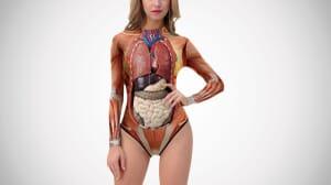 anatomy model swimsuit