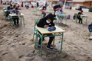 Open air school in Spain