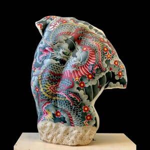 tattooed marble sculptures fabio viale 12