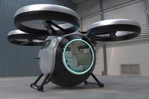 futuristic amphibious vehicle