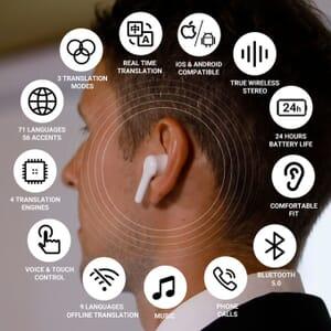 wooask translation earbuds