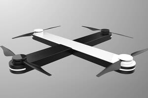 sleek pocket-sized drone