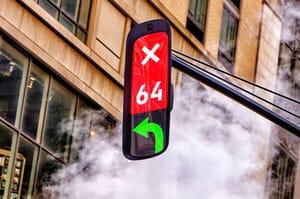 Futuristic traffic lights