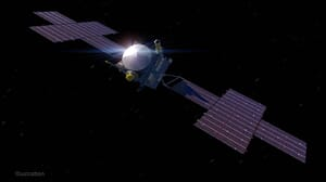 Futuristic Electric Thrusters Powered Spacecraft